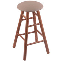 Holland Bar Stool XRC24OSMEDREITHA Big & Tall 24 inch Medium Oak Counter Height Stool With Rein Thatch Swivel Seat And Smooth Legs