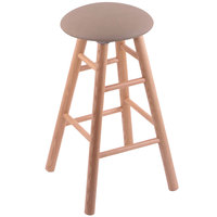 Holland Bar Stool XRC24OSNATREITHA Big & Tall 24 inch Natural Oak Counter Height Stool With Rein Thatch Swivel Seat And Smooth Legs