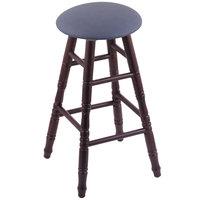 Holland Bar Stool XRC24OTDCREIBAY Big & Tall 24 inch Dark Cherry Oak Counter Height Stool With Rein Bay Swivel Seat And Turned Legs