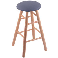 Holland Bar Stool XRC24OSNATREIBAY Big & Tall 24 inch Natural Oak Counter Height Stool With Rein Bay Swivel Seat And Smooth Legs