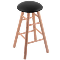 Holland Bar Stool XRC24OSNATBLKVINYL Big & Tall 24 inch Natural Oak Counter Height Stool With Black Vinyl Swivel Seat And Smooth Legs