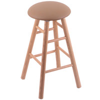 Holland Bar Stool XRC24OSNATALBEWD Big & Tall 24 inch Natural Oak Counter Height Stool With Allante Beechwood Swivel Seat And Smooth Legs