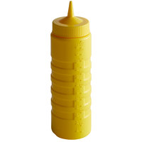 Vollrath 4924-08 Traex® 24 oz. Yellow Single Tip Ridged Wide Mouth Squeeze Bottle
