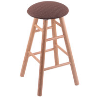 Holland Bar Stool XRC24OSNATAXSWIL Big & Tall 24 inch Natural Oak Counter Height Stool With Axis Willow Swivel Seat And Smooth Legs