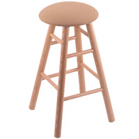 Holland Bar Stool XRC24OSNATAXSSUM Big & Tall 24 inch Natural Oak Counter Height Stool With Axis Summer Swivel Seat And Smooth Legs