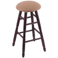 Holland Bar Stool XRC24OTDCALBEWD Big & Tall 24 inch Dark Cherry Oak Counter Height Stool With Allante Beechwood Swivel Seat And Turned Legs