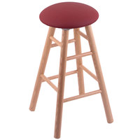 Holland Bar Stool XRC24OSNATALWINE Big & Tall 24 inch Natural Oak Counter Height Stool With Allante Wine Swivel Seat And Smooth Legs