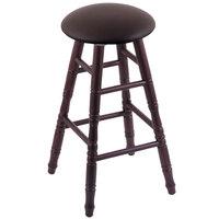Holland Bar Stool XRC24OTDCALESPR Big & Tall 24 inch Dark Cherry Oak Counter Height Stool With Allante Espresso Swivel Seat And Turned Legs