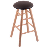 Holland Bar Stool XRC24OSNATALESPR Big & Tall 24 inch Natural Oak Counter Height Stool With Allante Espresso Swivel Seat And Smooth Legs