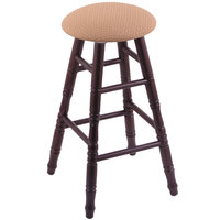 Holland Bar Stool XRC24OTDCAXSSUM Big & Tall 24 inch Dark Cherry Oak Counter Height Stool With Axis Summer Swivel Seat And Turned Legs
