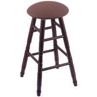 Holland Bar Stool XRC24OTDCAXSWIL Big & Tall 24 inch Dark Cherry Oak Counter Height Stool With Axis Willow Swivel Seat And Turned Legs