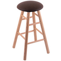 Holland Bar Stool XRC24OSNATREICOF Big & Tall 24 inch Natural Oak Counter Height Stool With Rein Coffee Swivel Seat And Smooth Legs