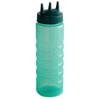 Vollrath 3324C-191 Traex® Color-Mate™ 24 oz. Green Tri Tip™ Ridged Wide Mouth Squeeze Bottle