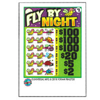 Fly By Night 3 Window Pull Tab Tickets - 3120 Tickets per Deal - Total Payout: $2611