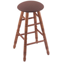 Holland Bar Stool XRC24OTMEDAXSWIL Big & Tall 24 inch Medium Oak Counter Height Stool With Axis Willow Swivel Seat And Turned Legs