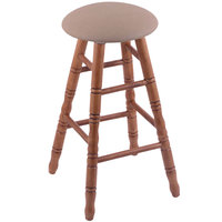 Holland Bar Stool XRC24OTMEDREITHA Big & Tall 24 inch Medium Oak Counter Height Stool With Rein Thatch Swivel Seat And Turned Legs