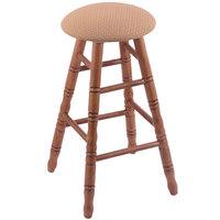 Holland Bar Stool XRC24OTMEDAXSSUM Big & Tall 24 inch Medium Oak Counter Height Stool With Axis Summer Swivel Seat And Turned Legs