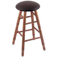 Holland Bar Stool XRC24OTMEDALESPR Big & Tall 24 inch Medium Oak Counter Height Stool With Allante Espresso Swivel Seat And Turned Legs