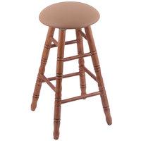 Holland Bar Stool XRC24OTMEDALBEWD Big & Tall 24 inch Medium Oak Counter Height Stool With Allante Beechwood Swivel Seat And Turned Legs