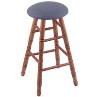 Holland Bar Stool XRC24OTMEDREIBAY Big & Tall 24 inch Medium Oak Counter Height Stool With Rein Bay Swivel Seat And Turned Legs