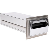 Vollrath 6520-28 Stainless Steel In-Counter Minifold Napkin Dispenser with Chrome Faceplate