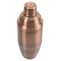 Mercer Culinary M37039ACP Barfly 24 oz. 3-Piece Antique Copper-Plated Finish Stainless Steel Japanese Style Shaker Set