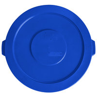Lavex Janitorial 32 Gallon Blue Round Commercial Trash Can Lid