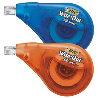 Bic WOTAP10 Wite-Out EZ Correct Blue / Orange 1/6 inch x 472 inch Correction Tape   - 10/Box