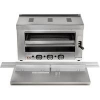 Cooking Performance Group S-36-SB-N 36 inch Natural Gas Infrared Salamander Broiler with 36 inch Range Mounting Bracket - 36,000 BTU
