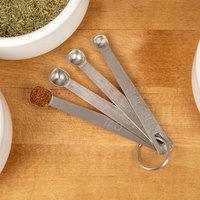 Tablecraft H723 4-Piece Stainless Steel Spice Measuring Spoon Set