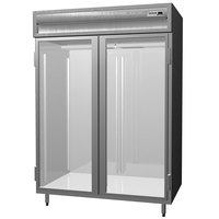 Delfield SSR2N-G Stainless Steel 44 Cu. Ft. Two Section Glass Door Narrow Reach In Refrigerator - Specification Line
