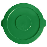 Lavex Janitorial 44 Gallon Green Round Commercial Trash Can Lid