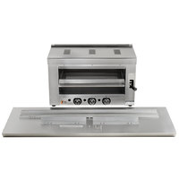 Cooking Performance Group S-36-SB-N 36 inch Natural Gas Infrared Salamander Broiler with 60 inch Range Mounting Bracket - 36,000 BTU