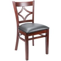 Lancaster Table & Seating Mahogany Diamond Back Chair with 2 1/2 inch Padded Seat