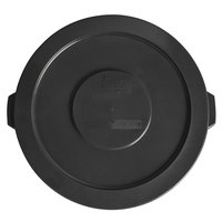 Lavex Janitorial 32 Gallon Black Round Commercial Trash Can Lid