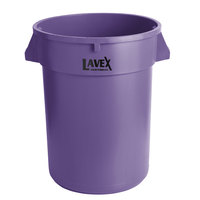 Lavex Janitorial 32 Gallon Purple Round Commercial Trash Can
