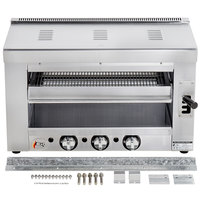 Cooking Performance Group S-36-SB-N 36 inch Natural Gas Infrared Salamander Broiler with Wall Mounting Bracket - 36,000 BTU