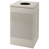 Rubbermaid FGSC18ERBDP Silhouettes Steel Designer Waste Receptacle - 40 Gallon