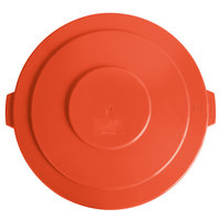 Lavex Janitorial 55 Gallon Orange Round Commercial Trash Can Lid