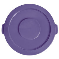 Lavex Janitorial 20 Gallon Purple Round Commercial Trash Can Lid