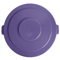 Lavex Janitorial 55 Gallon Purple Round Commercial Trash Can Lid