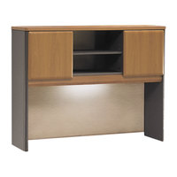 Bush WC57449 Series A Collection Natural Cherry Desk Hutch - 47 5/8 inch x 35 5/8 inch x 13 7/8 inch