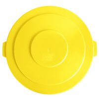 Lavex Janitorial 55 Gallon Yellow Round Commercial Trash Can Lid