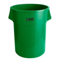 Lavex Janitorial 55 Gallon Green Round Commercial Trash Can