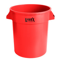 Lavex Janitorial 20 Gallon Red Round Commercial Trash Can