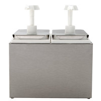 Carlisle 38502 5 Qt. Condiment Dispenser Rail with 2 Standard Pumps