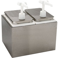 Carlisle 38502 5 Qt. Condiment Dispenser Rail with 2 Standard Pumps