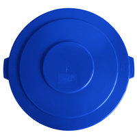 Lavex Janitorial 55 Gallon Blue Round Commercial Trash Can Lid