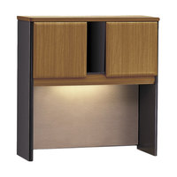 Bush WC57437 Series A Collection Natural Cherry Desk Hutch - 35 5/8 inch x 36 5/8 inch x 13 7/8 inch
