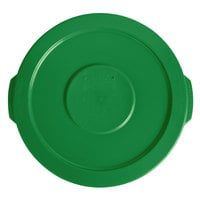 Lavex Janitorial 10 Gallon Green Round Commercial Trash Can Lid